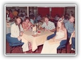 Dinner with the passengers aboard the Fairstar